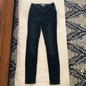 FREE PEOPLE Skinny Stretch Jeans, Med Dark Wash